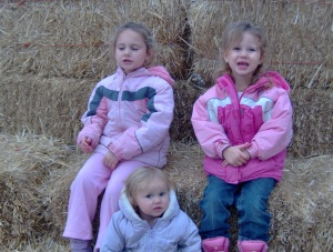 Girls posing for camera in the maze